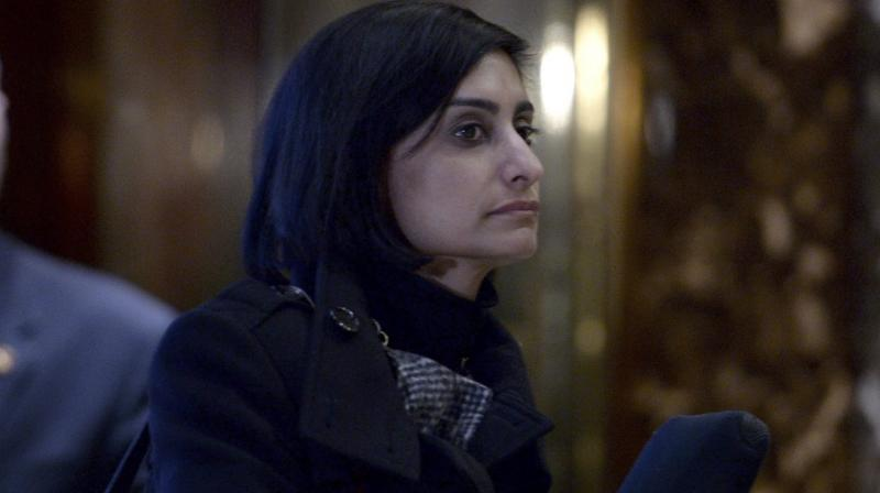 Seema Verma, president's choice for Centers for Medicare and Medicaid Services administrator, is seen waiting for the elevator in the lobby of the Trump Tower in New York. (Photo: AP)