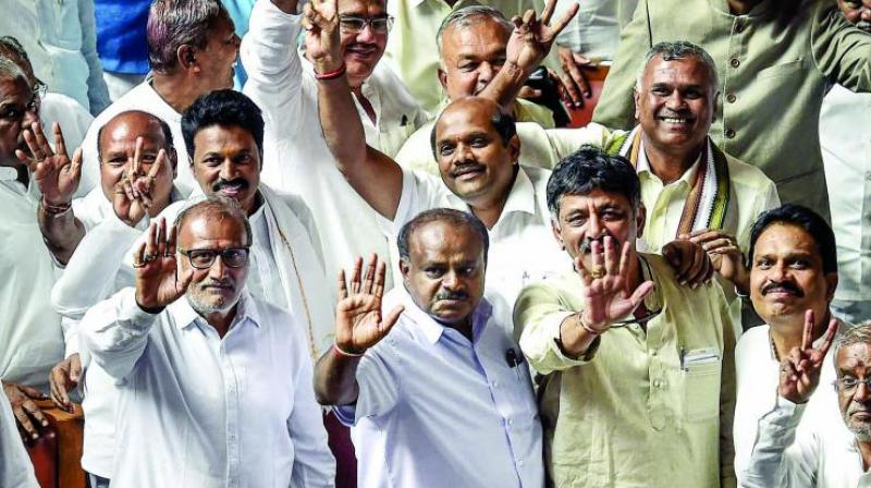 After Mr H.D. Kumaraswamy took over as CM on May 23 along with his deputy, Dr G. Parameshwar of the Congress, the two partners have been wrangling over portfolio sharing with the prized finance portfolio proving to be the major bone of contention. (Photo: File)