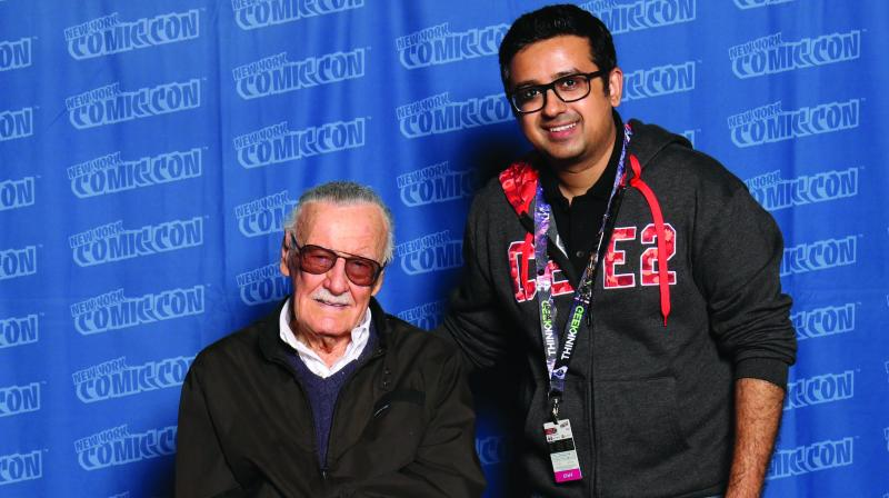 Jatin Varma with Stan Lee