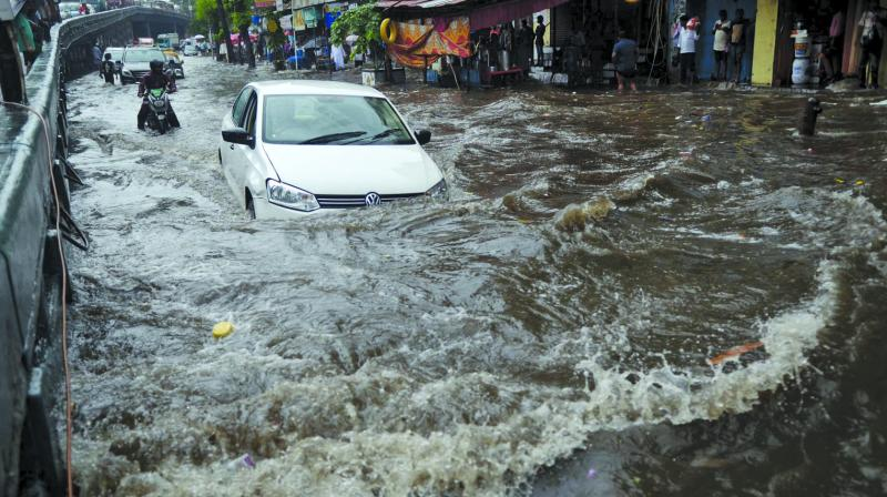 At least five people, including two Brihanmumbai Municipal Corporation (BMC) workers and a senior citizen, lost their lives due to heavy waterlogging the city experienced on Wednesday.