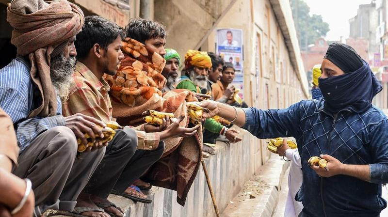 Akshaya Patra Foundation undertakes relief feeding to support government's efforts during Covid 19 outbreak. (Photo-AFP)