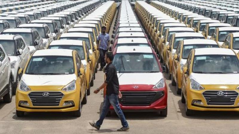 India's car sales plunge. (PTI)