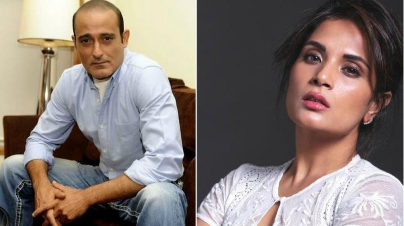 Akshaye Khanna, Richa Chadha in a photoshoot.
