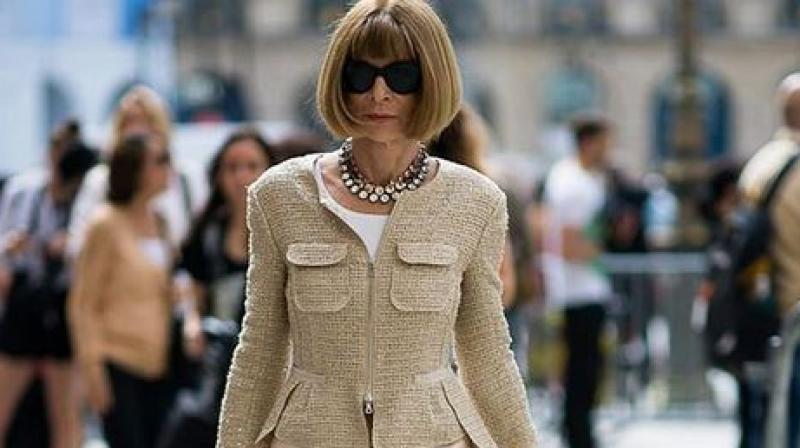Instantly recognisable with her short fringed bob haircut and sunglasses, British-born Wintour has long been a front row staple at catwalk shows. (Photo: Instagram)