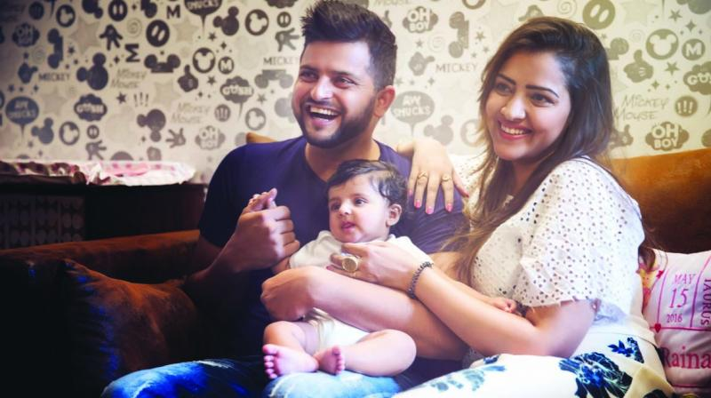 Suresh Raina and Priyanka Raina with their daughter Gracia