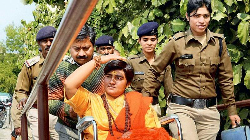 The court in its order also said that Sadhvi Pragya could not be exonerated of conspiracy charges as she was aware about the motorcycle being used for the conspiracy. (Photo: PTI)