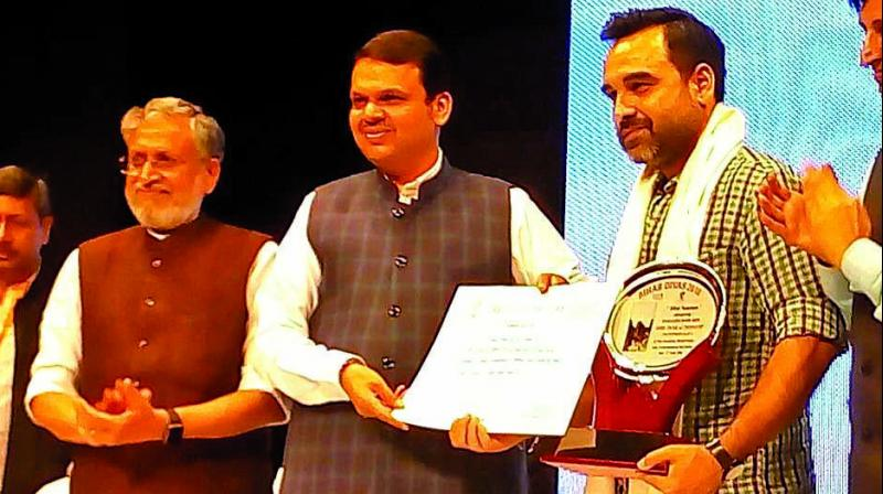 """When asked about receiving the award, Pankaj said, """"It means a lot to receive this award for my efforts in the industry. (Photo: Twitter)"""