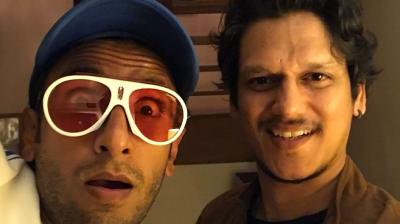 Ranveer Singh poses with Vijay Varma.