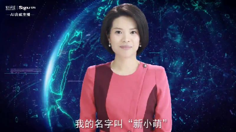 On Tuesday, state news Xinhua announced that in collaboration with Sogou (search engine) has created the world's first female AI news anchor, known as Xin Xiaomeng. (Photo: @PDChina   Twitter)
