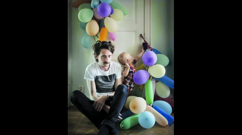 Johan Bavman from his  photo series of Swedish Dads