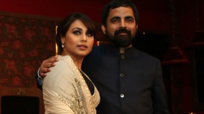 Rani Mukerji with Sabyasachi Mukherjee at an event.