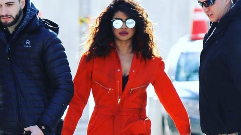 Priyanka Chopra on the sets of 'Quantico 3'.