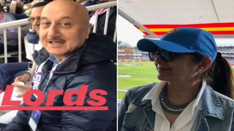 Bollywood celebs at Lord's to watch the final of ICC Cricket World Cup 2019. (Photo: ANI)