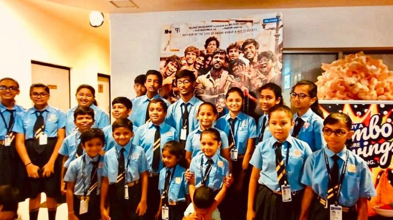 Kids watch Hrithik Roshan's Super 30 in theatres.