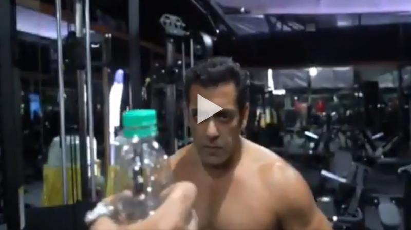 Salman Khan doing #BottleCapChallenge. (Video: Twitter)