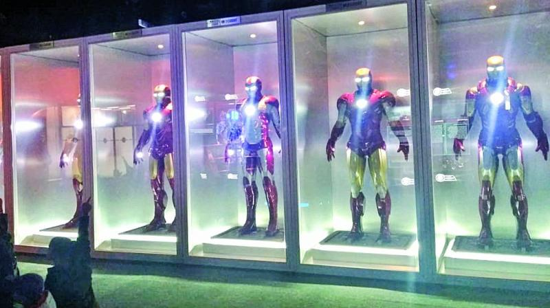 Few of the Iron Man suit on display