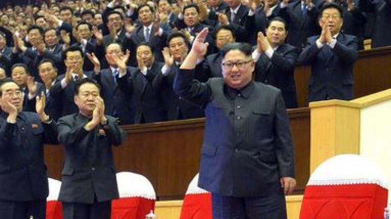 The North's official Korean Central News Agency took the oft-repeated stance as it reviewed the country's major nuclear weapons and missile tests in 2017. (Photo: AFP)
