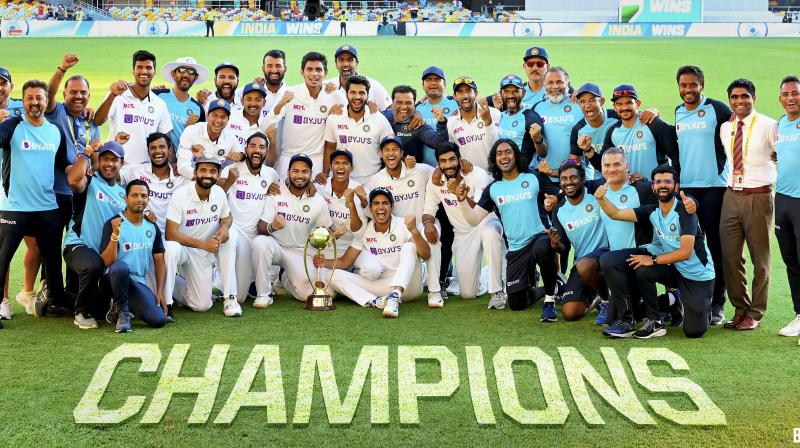 This is indeed the dawn of a new era as the touring India squad laid to rest many conservative theories about experienced players and a settled XI being the key to success.(Photo:PTI)