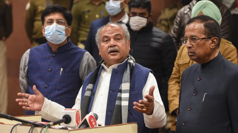 The farmers' leaders also raised the issue of NIA notices being served to some farmers, alleging it was being done just to harass those supporting the agitation, on which the government representatives said they would look into the matter. (Photo:PTI)