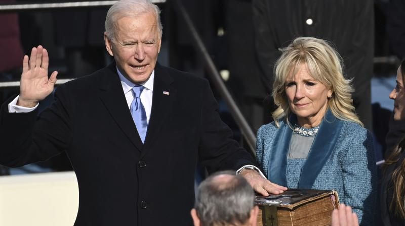 Biden on Wednesday planned to halt construction on Trump's U.S.-Mexico border wall, end the ban on travel from some Muslim-majority countries, rejoin the Paris Climate Accord and the World Health Organization and revoke the approval of the Keystone XL oil pipeline, aides said. (Photo:AP)