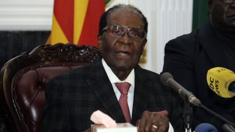The ruling ZANU-PF party sacked Robert Mugabe as its leader earlier on Sunday. (Photo: AP)