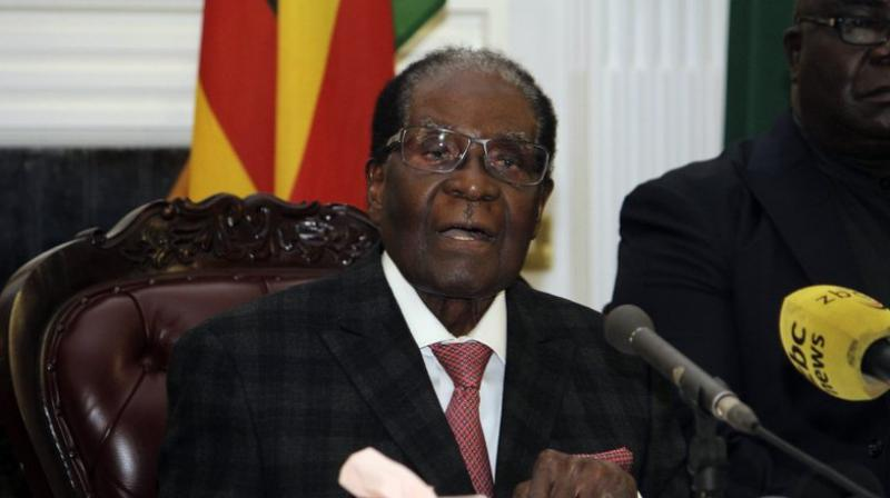 Zimbabwean President Robert Mugabe delivers his speech during a live broadcast at State House in Harare. Zimbabwe's President Robert Mugabe has baffled the country by ending his address on national television without announcing his resignation. (Photo: AP)