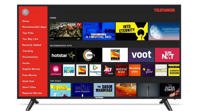 The TV runs on Android 7.0 version, with 1 GB RAM and 8GB ROM that ensures seamless experience.