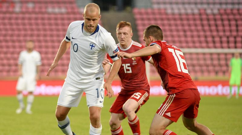 The Croatians, who laboured to a 2-1 home win over Azerbaijan on Thursday, appeared set for plain sailing when Ante Rebic gave them a sixth-minute lead from close range after Andrej Kramaric poked a low cross into his path. (Photo: AP)