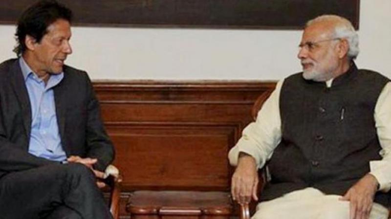 Prime Minister Narendra Modi and Pakistan Prime Minister Imran Khan