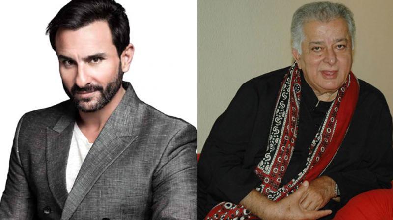 Saif Ali Khan, Shashi Kapoor in a photoshoot