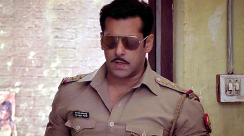 Salman Khan in a still from 'Dabangg 2'.
