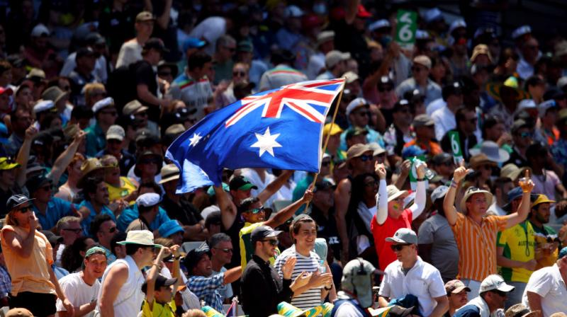 More than 80,000 fans packed the Melbourne Cricket Ground Thursday in the largest single-day crowd for a Test match between the two nations, and one of the biggest against any country. (Photo: Twitter/ cricket.com.au)