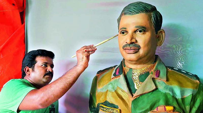 Statue of Colonel Bikkumalla Santosh Babu