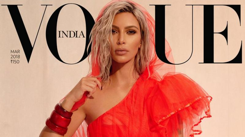 Kim isn't the first from the Kardashian clan to grace the magazine's cover, with younger sister Kendall featuring on the May 2017 cover. (Photo: Twitter/KimKardashiWest)