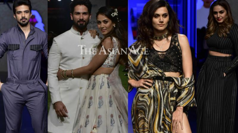 The Lakme Fashion Week Summer/Resort 2018 kicked off in style with the fashion appearances of several Bollywood stars in Mumbai on Wednesday. (Photo: Viral Bhayani)