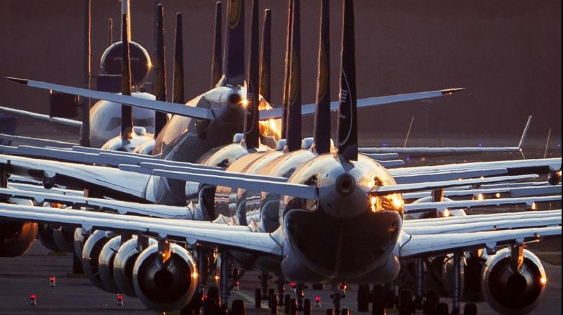 Due to the Coronavirus Lufthansa had to cancel half of its flights. (IMAGE- AP/PTI)