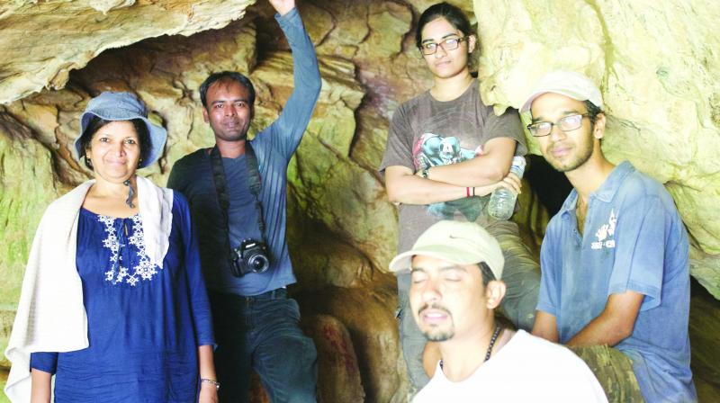 Groundbreaking: Earth scientist Kusala Rajendran with her team in Nepal.