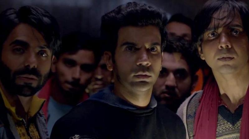 Rajkummar Rao, Aparshakti Khurrana and Abhishek Banerjee in the still from 'Stree'. (Courtesy: Maddock Films/D2RFilms)