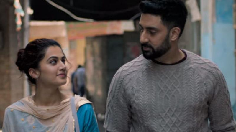 Taapsee Pannu and Abhishek Bachchan in a still from 'Manmarziyaan.'