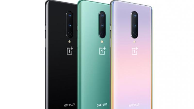 The OnePlus 8 with triple camera is available in Onyx Black, Glacial Green and Interstellar Glow colours.