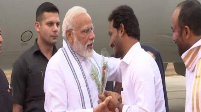 PM Modi thanked the people of Andhra Pradesh and Tamil Nadu for participating in the elections and forming the government of their choice in the two states. (Photo: ANI twitter)