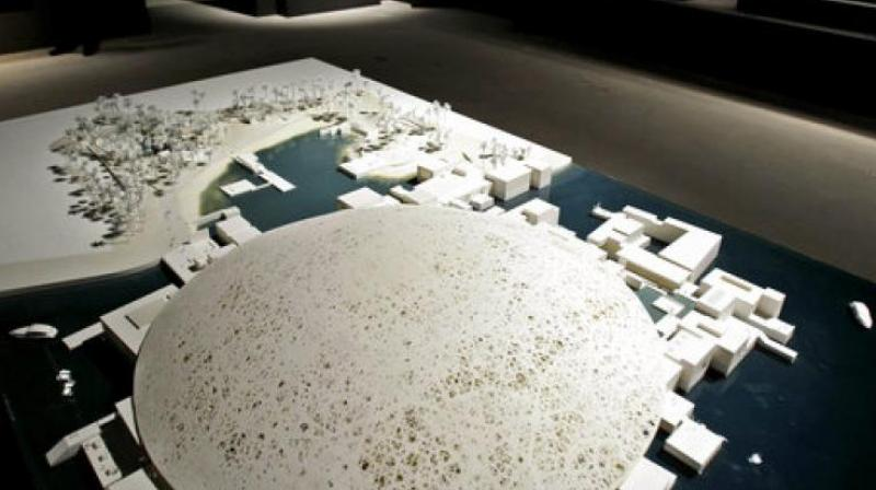 In this Tuesday, April 16, 2013 file photo, a model of the future Abu Dhabi branch of the Louvre museum by French architect Jean Nouvel is on display as part of a sample collection at the museum in Abu Dhabi, United Arab Emirates. (Photo: AP)