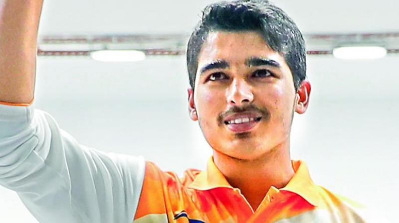 Saurabh Chaudhary claimed the silver medal in men's 10m air pistol event to continue India's surge at the 14th Asian Championship. (Photo: File)