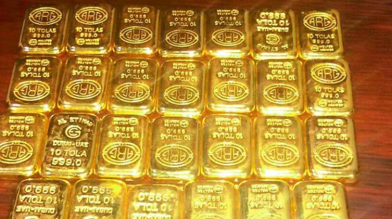 Globally, gold prices were trading higher at USD 1,296.80 per ounce and silver was up at USD 15.49 an ounce in New York.