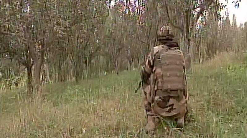 Currently, there is intermittent firing in Pulwama and efforts to evacuate families are in progress. (Photo: Twitter | ANI)