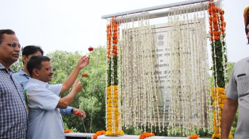 'In 15 years, the Sheila Dikshit government built 70 flyovers. In the last four-and-a-half years, our (AAP) government has built 23 flyovers,' Kejriwal said. (Photo: Twitter | @AamAadmiParty)