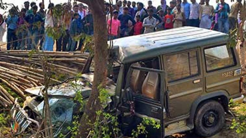 Nine children of a government middle school were crushed to death by a speeding SUV which belonged to district level BJP leader Manoj Baitha on Saturday. (Photo: PTI)