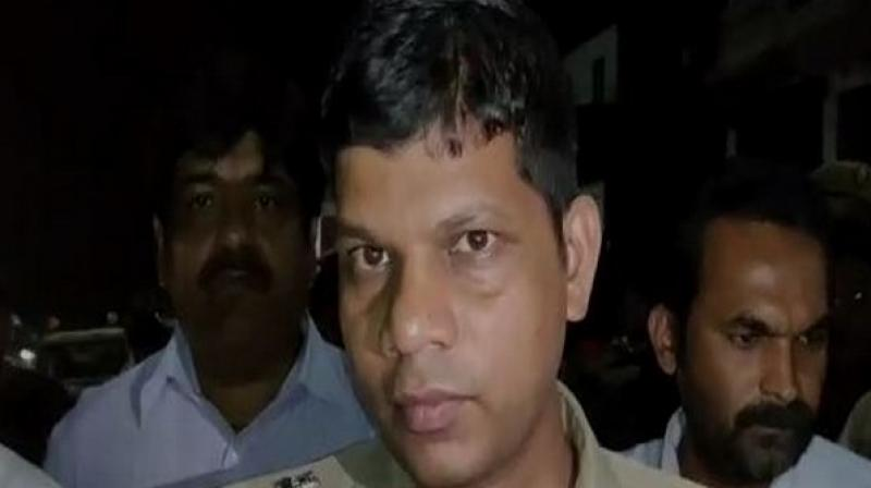 Speaking to media, SP Sonbhadra, Prabhakar Chaudhary said, 'We received the information that Shiv Pratap Singh has been attacked by a group of men at around 10:30 pm. We immediately rushed to the spot. We have also found one CCTV footage from near the incident site but is yet to ascertain if those men present in the video are the culprits.' (Photo: ANI)