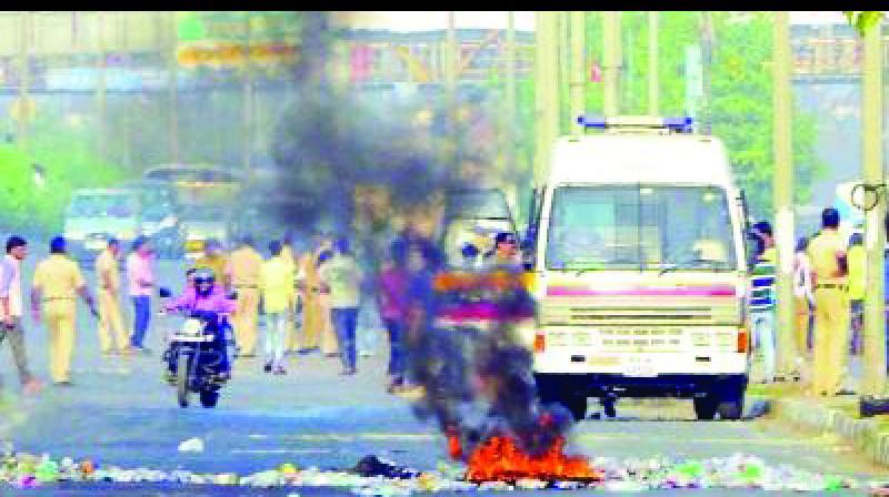 File picture of Bhima-Koregaon protest.
