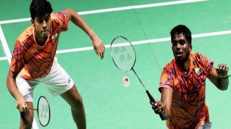 The Indian men's doubles pair of Satwiksairaj Rankireddy and Chirag Shetty's best efforts went in vain as they lost to top seeds Marcus Fernaldi Gideon and Kevin Sanjaya Sukamuljo of Indonesia. (Photo:Twitter)